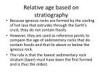 relative age based on stratiography