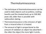 thermoluminescence