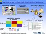 approach for the content analysis of training regulations
