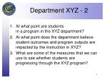 department xyz 2