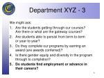 department xyz 3