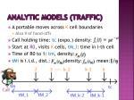 analytic models traffic