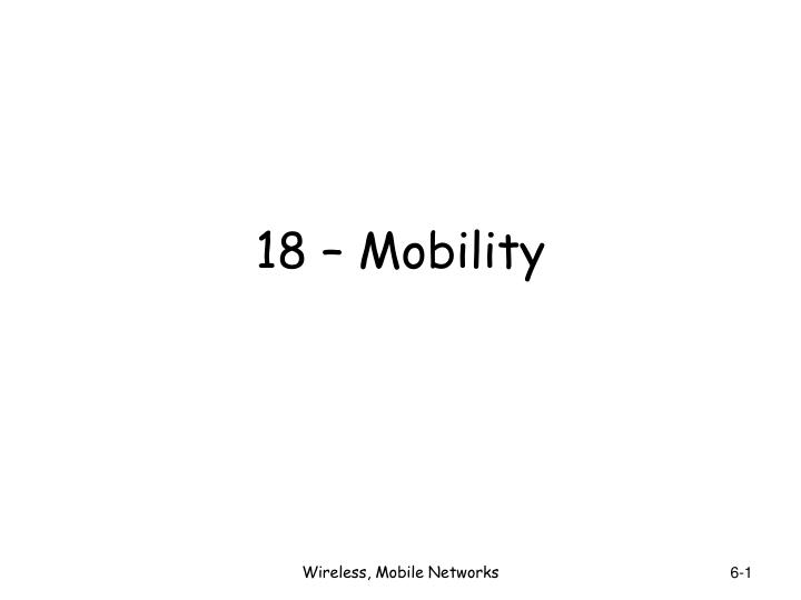 18 mobility n.