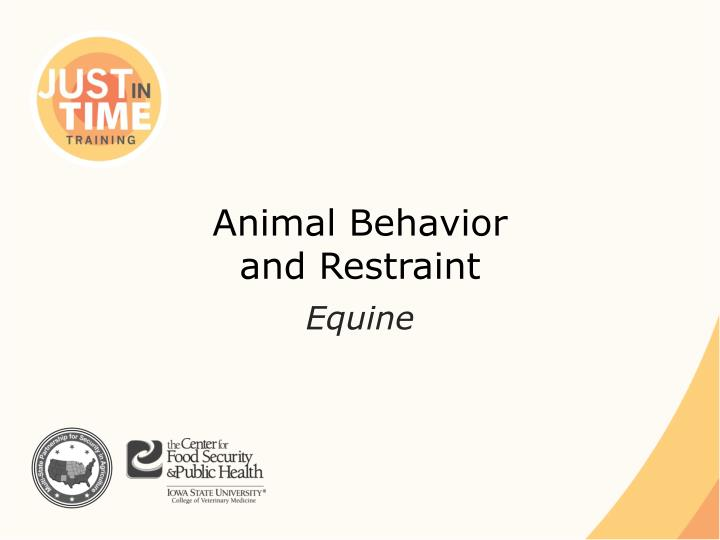 animal behavior and restraint n.