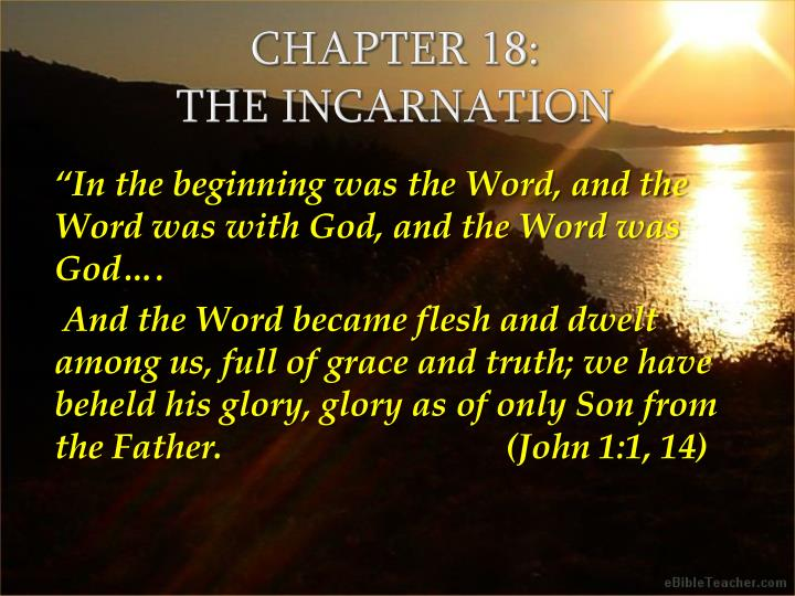 chapter 18 the incarnation n.