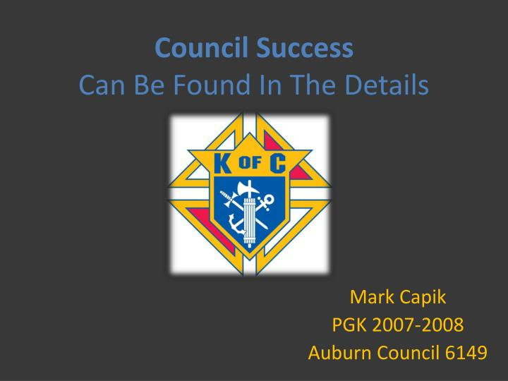 council success can be found in the details n.