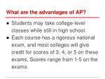 what are the advantages of ap