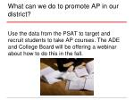 what can we do to promote ap in our district2