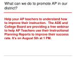 what can we do to promote ap in our district3