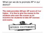 what can we do to promote ap in our district4