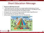 short education message