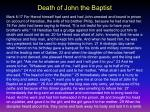 death of john the baptist