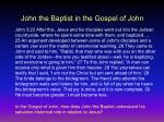 john the baptist in the gospel of john1