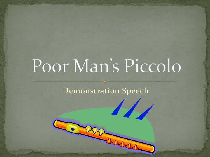 poor man s piccolo n.