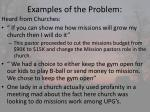 examples of the problem