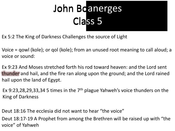 john boanerges class 5 n.