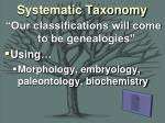 systematic taxonomy