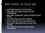 main events in civil war