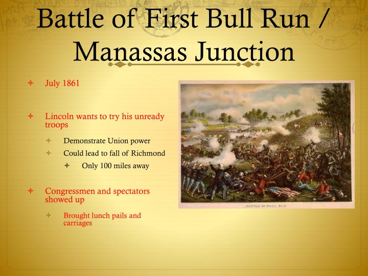 Battle of First Bull Run /