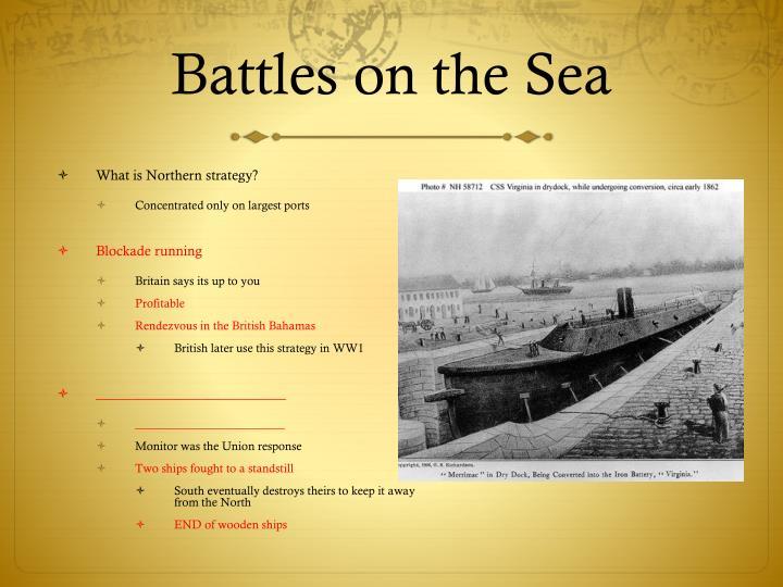 Battles on the Sea