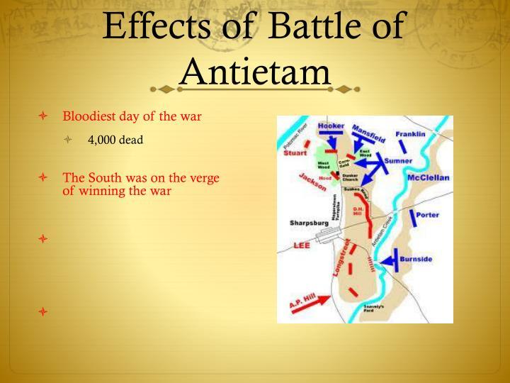 Effects of Battle of Antietam