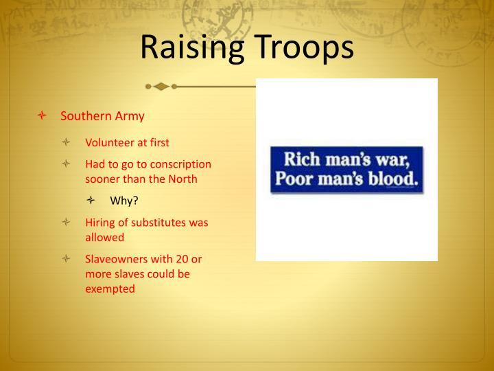 Raising Troops