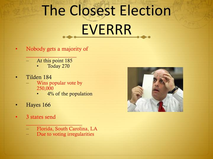 The Closest Election EVERRR