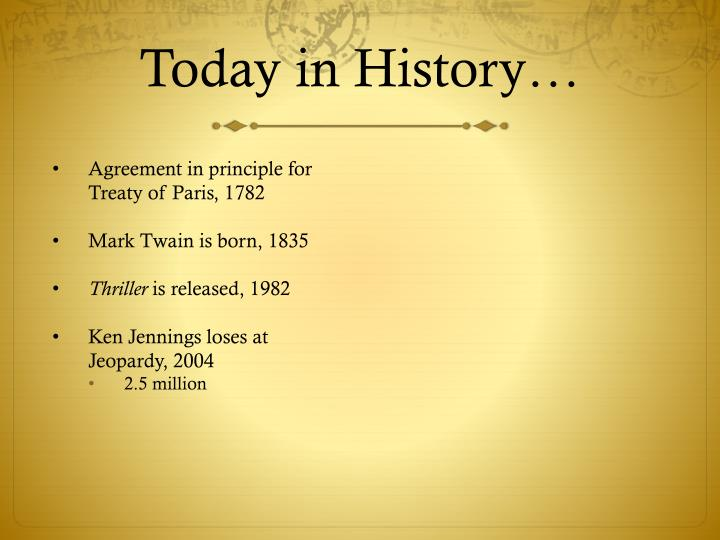 Today in History…