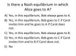 is there a nash equilibrium in which alice goes to a