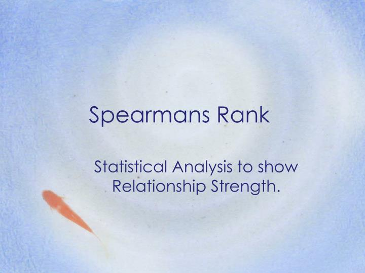 spearmans rank n.