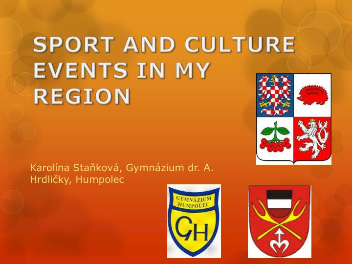 sport and culture events in my region n.