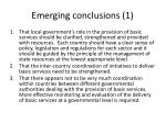 emerging conclusions 1