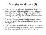 emerging conclusions 2
