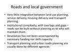 roads and local government