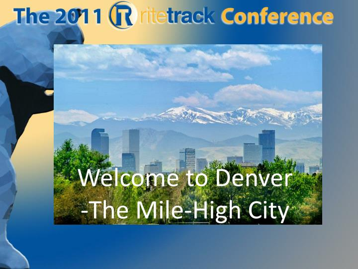 welcome to denver the mile high city n.