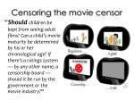 censoring the movie censor