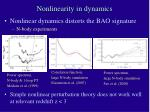nonlinearity in dynamics