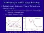 nonlinearity in redshift space distortions