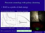 precision cosmology with galaxy clustering