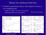 theory for nonlinear halo bias