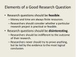 elements of a good research question2