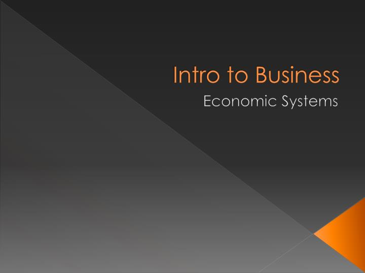 intro to business n.