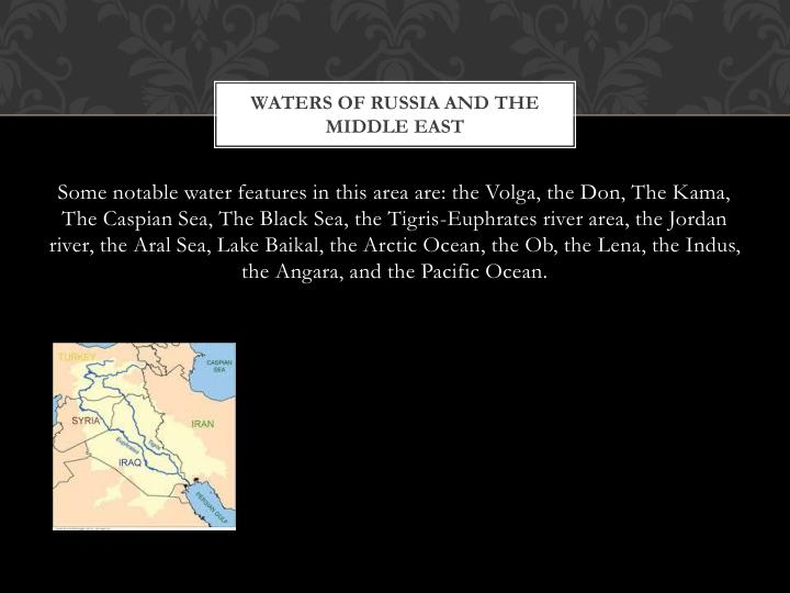 waters of russia and the middle east n.