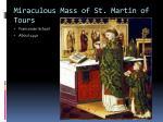 miraculous mass of st martin of tours