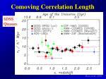 comoving correlation length