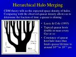 hierarchical halo merging