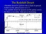 the redshift desert