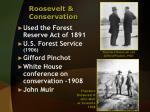 roosevelt conservation