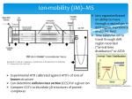 ion mobility im ms