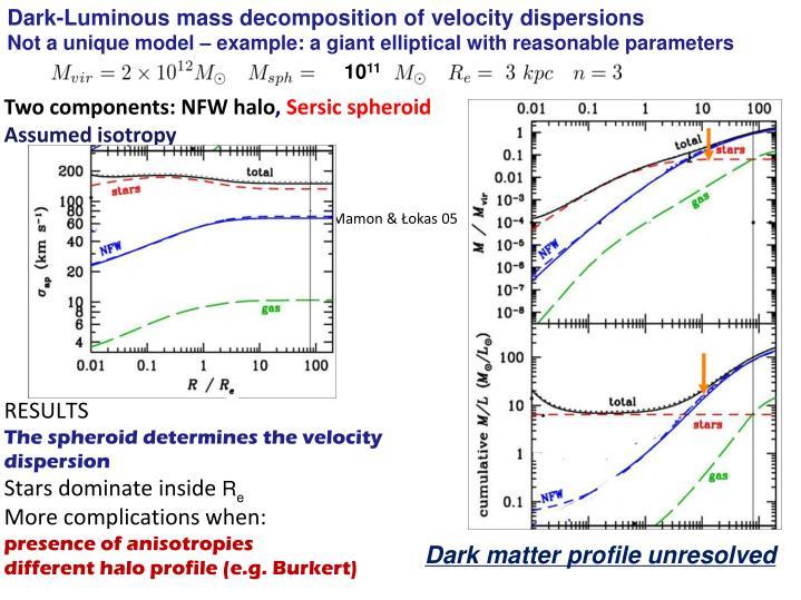 Dark-Luminous mass decomposition